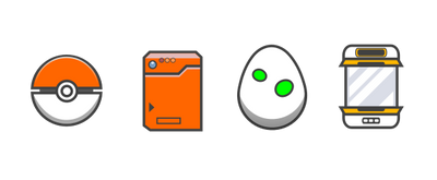 Pokemon Themed Icons - Inkscape Practice by Seothen