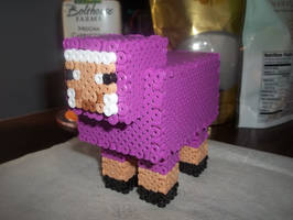 3D Purple Sheep Perler by Libbyseay