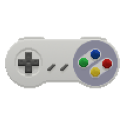 Snes Controller in the Pixels (alternate colors)