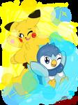 Pikachu and Piplup (Secret Santa gift)