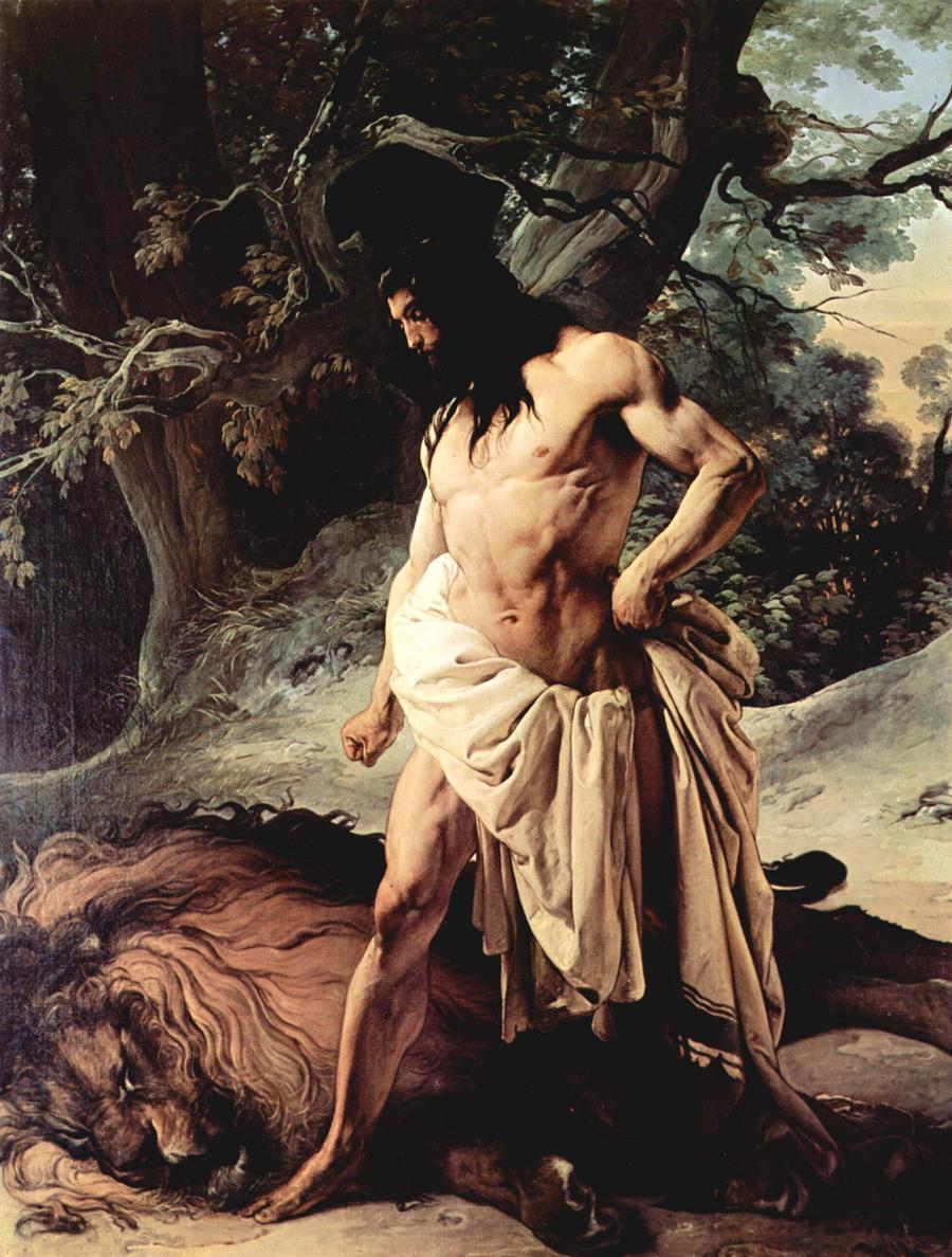 Samson and Lion de Hayez by robkeane69 - 285.6KB