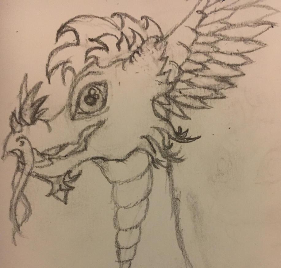 Dragon head by ViperSwan