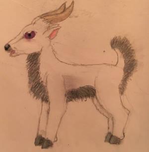 Very old fluffy goat OC