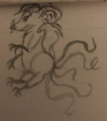 Multi-tailed mouse with hair??
