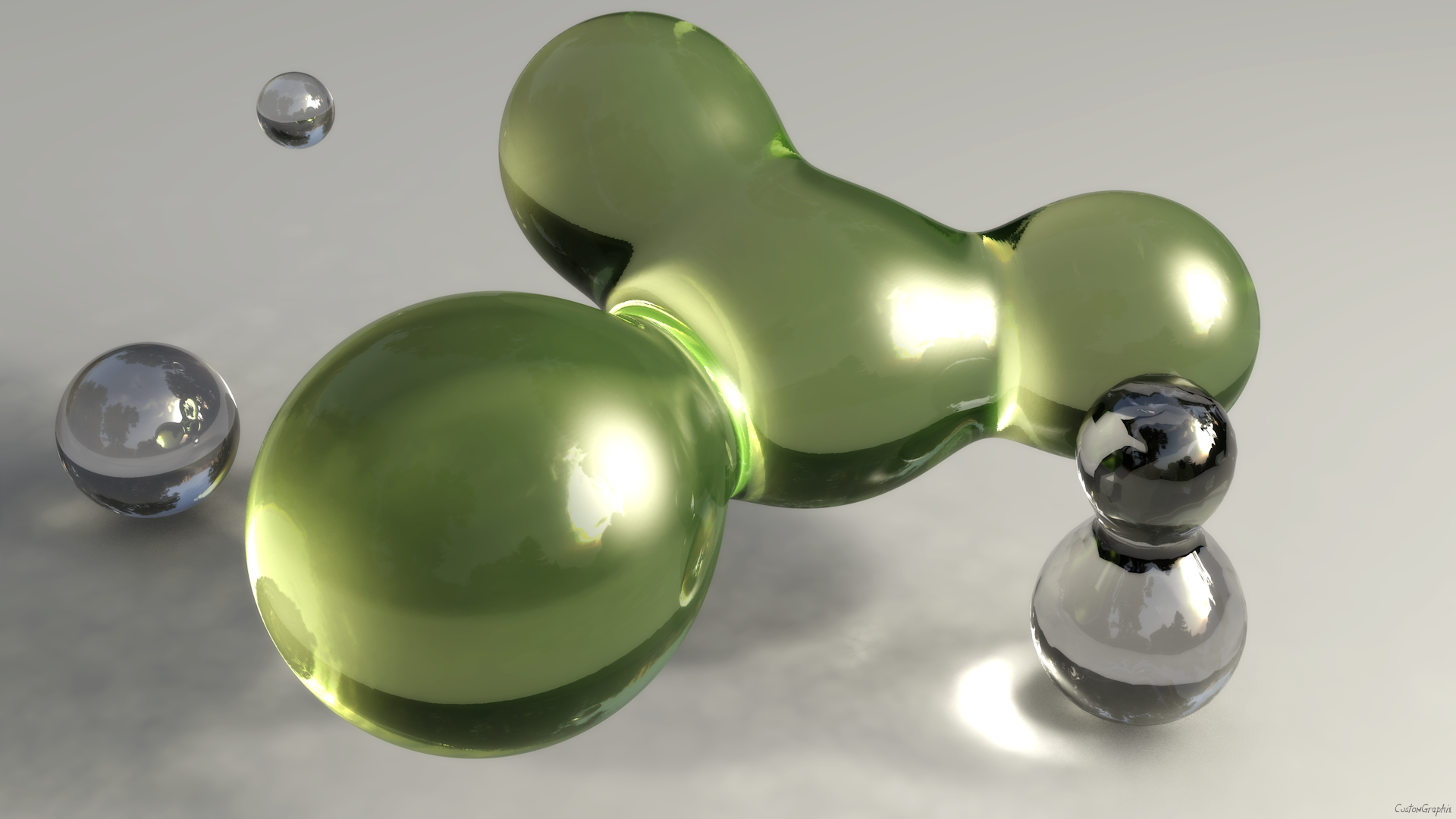 C4D abstract blobs by xCustomGraphix