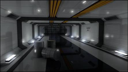 Spaceship hallway C4D 1920x1080
