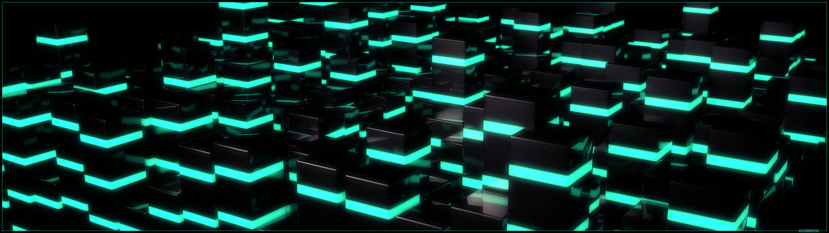 Abstract C4D Dualscreen wallpaper (3840x1080)
