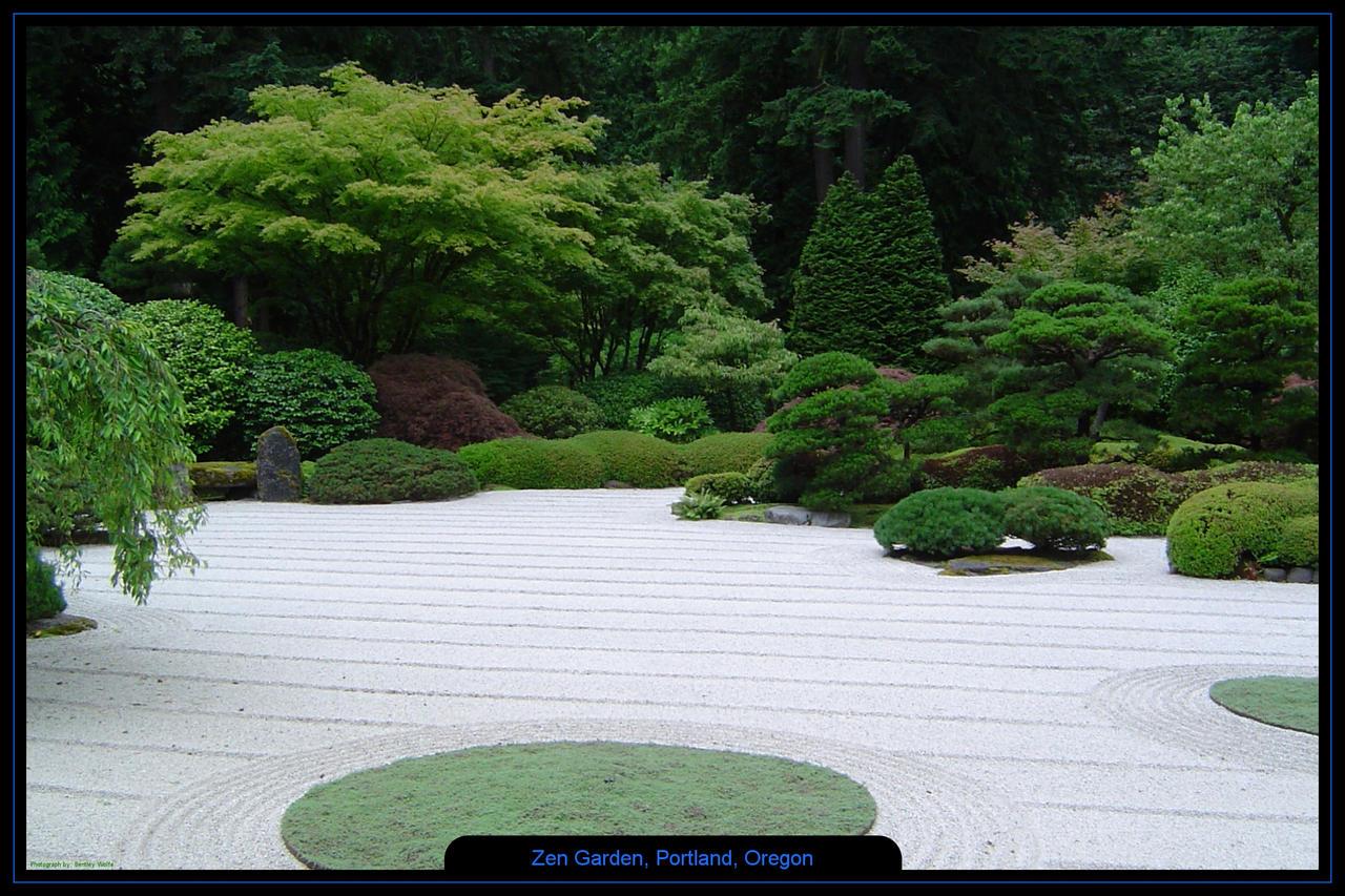 ... Zen Garden, Portland, Oregon 2 By Bentleyw