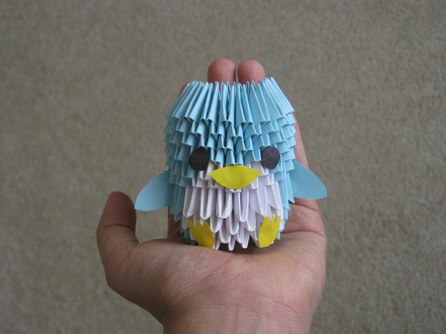 3D Origami Penguin By SaberFireTiger