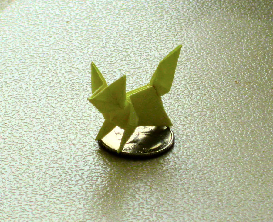 Origami Fox by SaberFireTiger