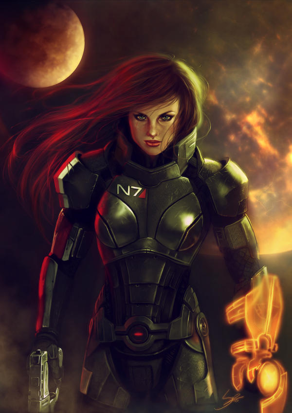 - Commander Shepard - by Anathematixs