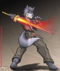Jazzwolf Art trade by YamiBliss