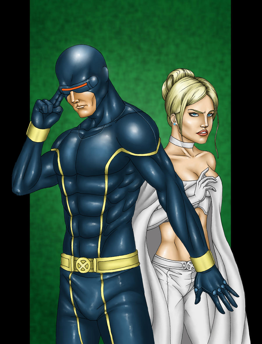 Cyclops and Emma Frost...