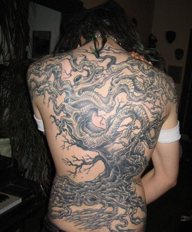 tree tattoo backpiece by LaughingTree