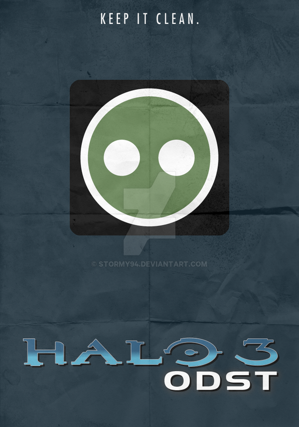 Halo 3 Odst 2009 Minimalist Poster By Stormy94 On Deviantart