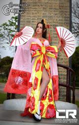 Dancing Geisha by DarkTifaStrife