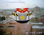 Dr. Eggman Flying Over a City by Megamink1997