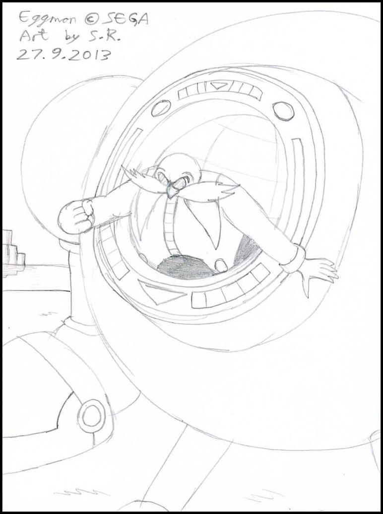 Doctor eggman in his machine by megamink1997 on deviantart for Dr eggman coloring pages