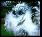 -SOLD-Posable Baby Owl Creature