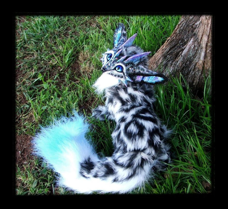 -SOLD-Posable Dragon Fox by Wood-Splitter-Lee