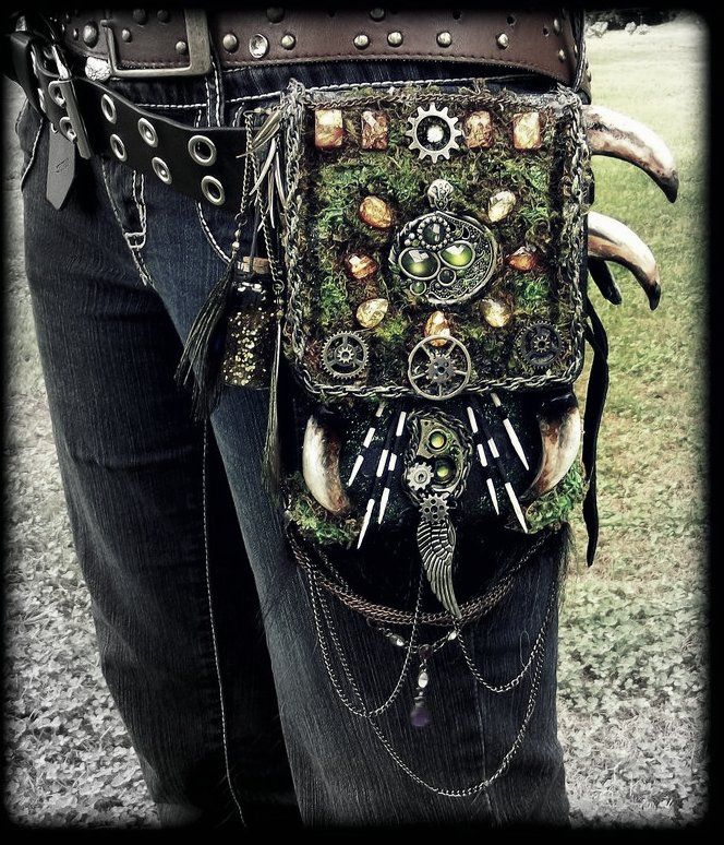 -SOLD-  Fantasy Hand Made Forest Belt Pack! by Wood-Splitter-Lee