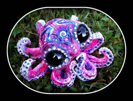 -SOLD- Sculpted Baby Octopus by Wood-Splitter-Lee