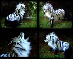 -SOLD-Posable Siberian Arctic Wolf! by Wood-Splitter-Lee