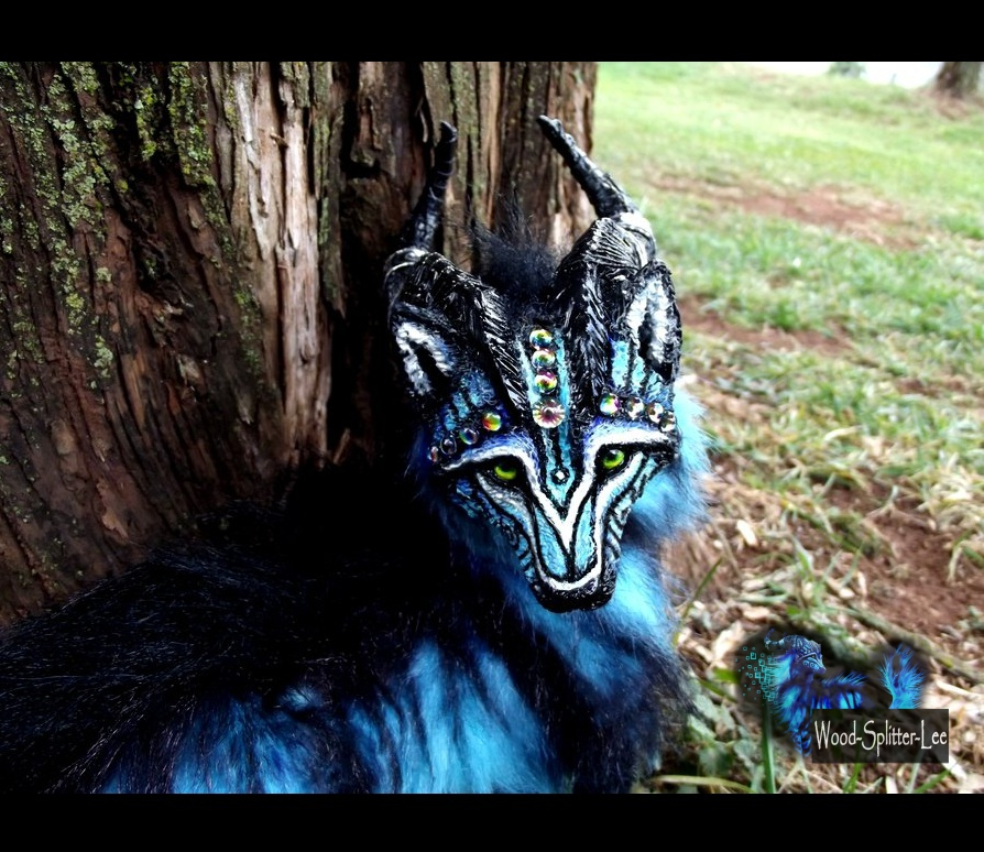 --SOLD--Posable Fantasy Moon Dust Wolf by Wood-Splitter-Lee