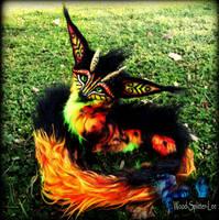 --SOLD--Posable Fantasy FIRE FOX! by Wood-Splitter-Lee