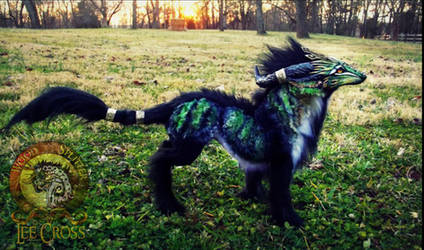 --SOLD--Poseable Forest Guardian Wolf