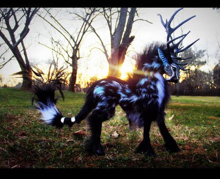 --SOLD--Poseable Arctic Tundra Stag!