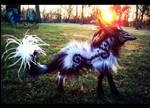 --SOLD--Poseable Fantasy Dream Walker Wolf