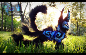 --SOLD--Poseable Hand Made Moon Dust Fox! by Wood-Splitter-Lee