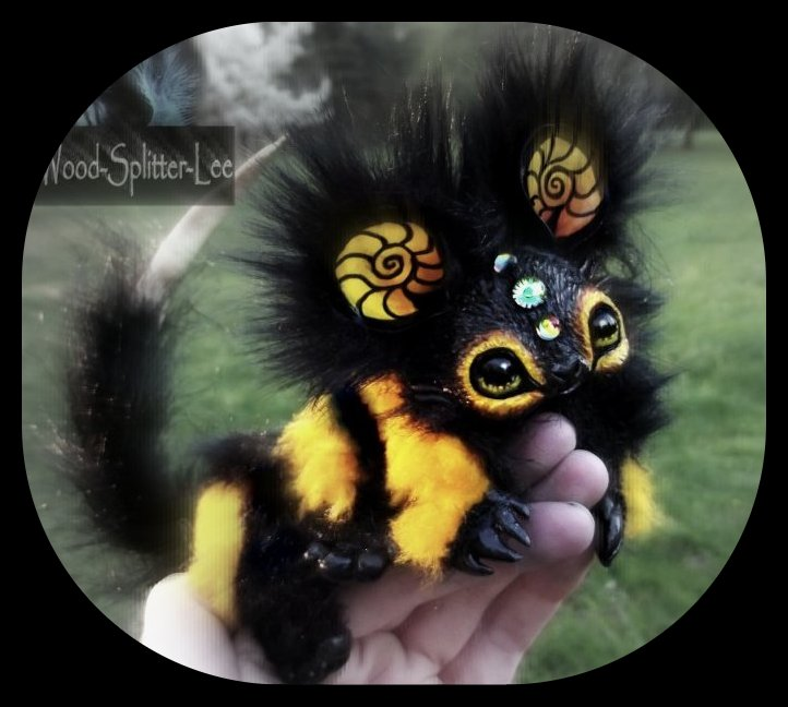 --SOLD--Poseable Baby Bumble Dragon! by Wood-Splitter-Lee