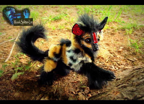 --SOLD--Poseable Fully Hand Made Baby Hyena!