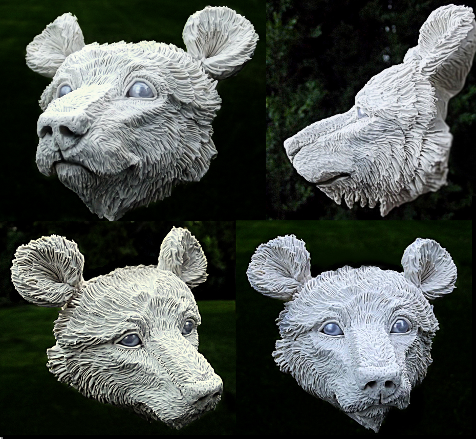 Bear Sculpture WIP Poseable by Wood-Splitter-Lee