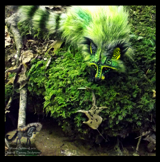 --SOLD-- Hand Made Poseable Fantasy Raccoon! by Wood-Splitter-Lee