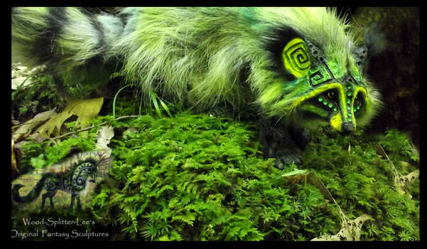 --SOLD--Hand Made Poseable Fantasy Raccoon!