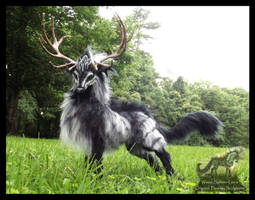 --SOLD--Hand Made Poseable Fantasy Thunder Stag!