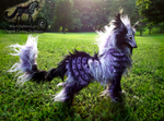 -SOLD-Hand Made Poseable Fantasy Black Berry Wolf!