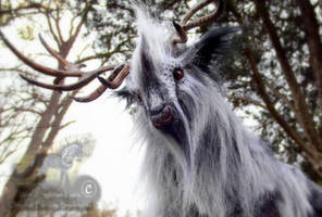 -SOLD- Hand Made Posable Silver Prehistoric Stag! by Wood-Splitter-Lee
