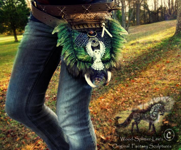 Sold- Hand Made Fantasy Belt Pack! by Wood-Splitter-Lee