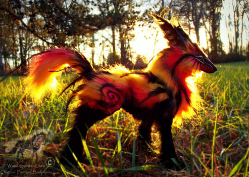 -SOLD- Hand Made Poseable FIRE FOX!