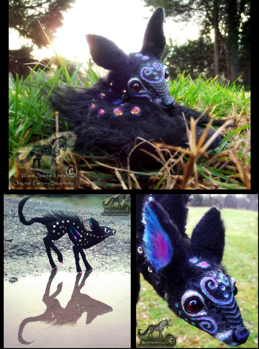SOLD-Hand Made Posable Fantasy Baby Twilight Fawn! by Wood-Splitter-Lee