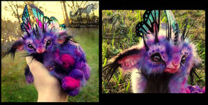-SOLD-Hand Made Poseable Baby Fairy Lamb!
