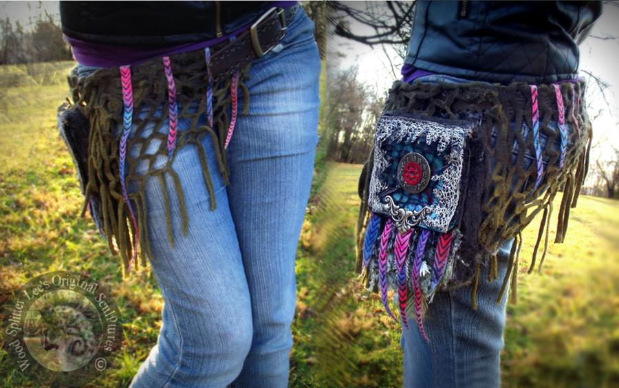 Hand Made Fantasy Frozen Time Belt Pack! by Wood-Splitter-Lee
