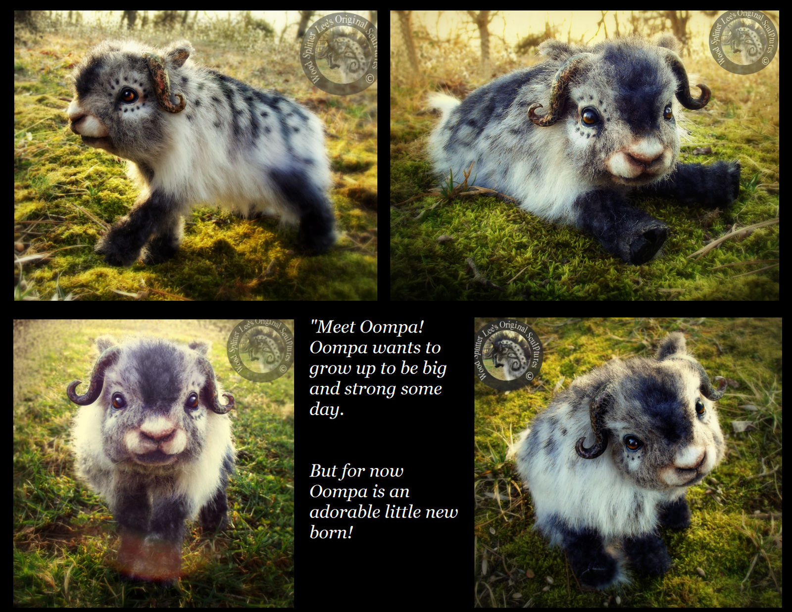 -SOLD-HAND MADE Poseable Fantasy Baby Muskox!
