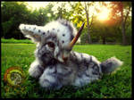 SOLD Hand Made Poseable Weighted Baby Unicorn!