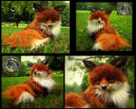 SOLD  Handmade Poseable Baby Fox!