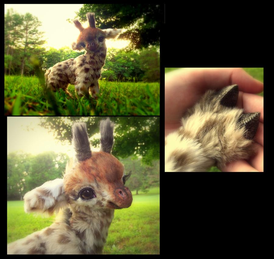 HAND MADE Poseable Baby Giraffe! by Wood-Splitter-Lee